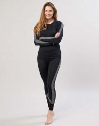 Dameslegging van exclusieve biologische merino wol zwart
