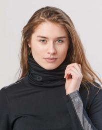 Dames colsjaal van exclusieve merino wol zwart