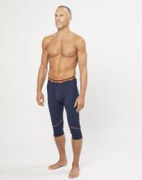 3/4 onderbroek voor heren - exclusieve biologische merino wol marineblauw