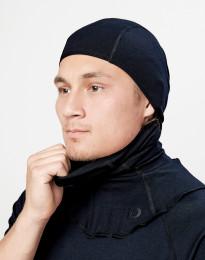 Bivakmuts voor heren - exclusieve biologische merino wol zwart