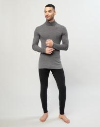Lange wollen onderbroek voor heren zwart