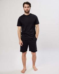 Katoenen shorts voor mannen zwart