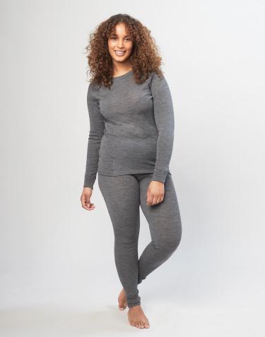 Dames legging van merino wol - grijs