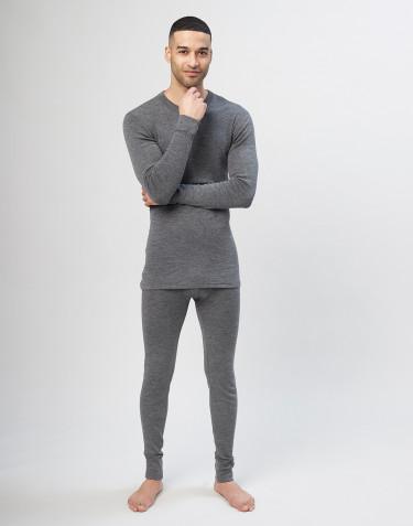 Lange onderbroek van merino wol voor heren - grijs