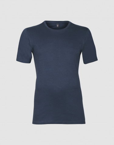 Premium Classic - katoenen T-shirt voor heren donkerblauw