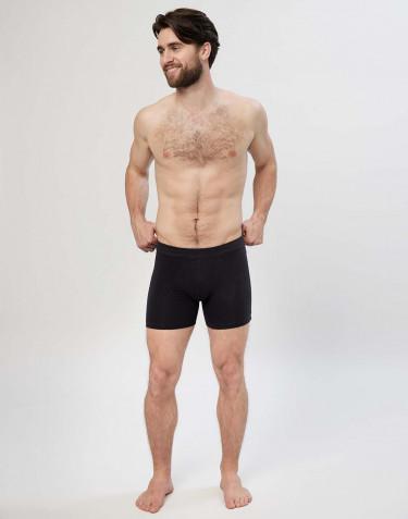 Premium Classic - katoenen boxershorts met gulp voor heren zwart