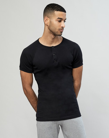 Premium Classic katoenen shirt met knooplijst voor heren zwart