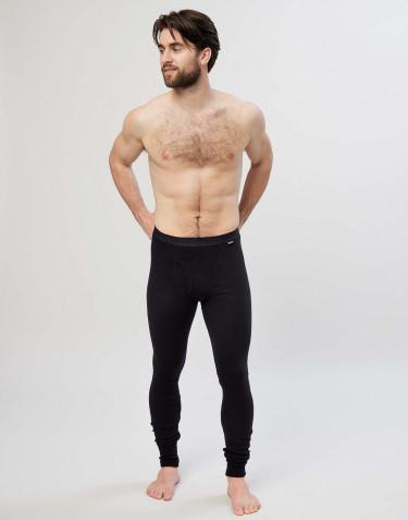 Premium Classic - katoenen legging met gulp voor heren zwart