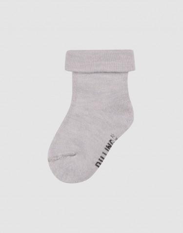 Wollen badstof sokken voor kinderen - Lichtgrijs