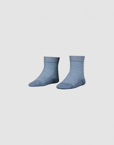Sokken van biologische merinowol voor kinderen - Nachtblauw