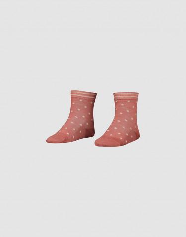 Sokken van biologische merinowol voor kinderen Donker roze