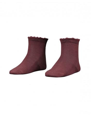Kindersokken - zacht merino wol rouge
