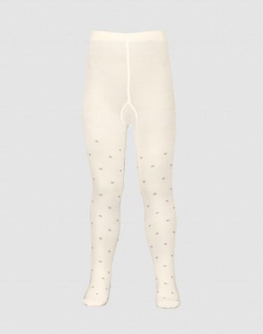 Kinder maillot - biologisch merino wol natuur met stippen