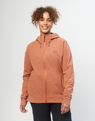 Dames softshell jas - koperbruin