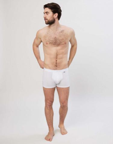 Katoenen boxershorts voor heren wit