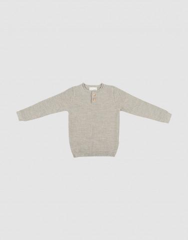 Gebreide trui voor kinderen - Grijs melange