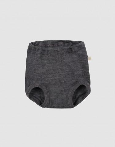 Merinos broekje voor baby donkergrijs melange