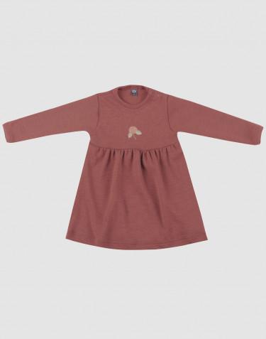 Jurk van merino wol voor baby's rouge