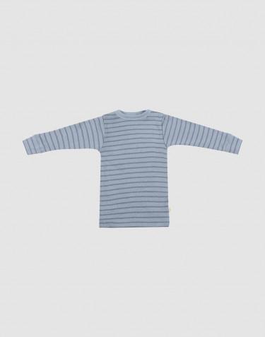 Baby trui van merino wol blauw gestreept