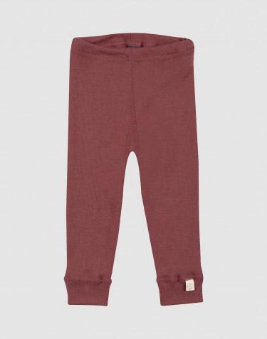 Merino legging voor baby's rouge