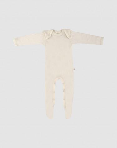 Merinowol baby boxpakje met voetjes natuur