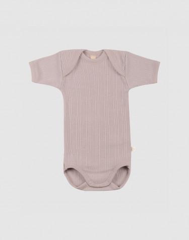 Merino wollen romper met korte mouwen voor baby's