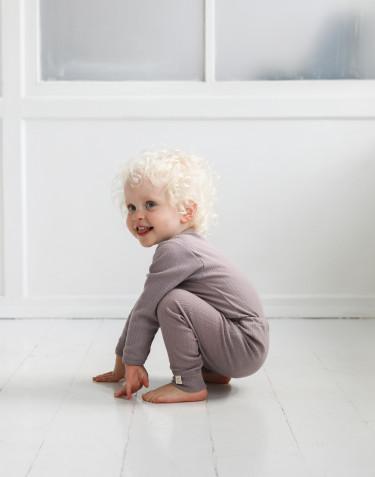 Merino wollen romper met lange mouwen voor baby's