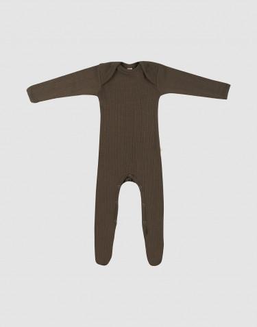 Baby boxpakje van merino wol - Chocoladebruin