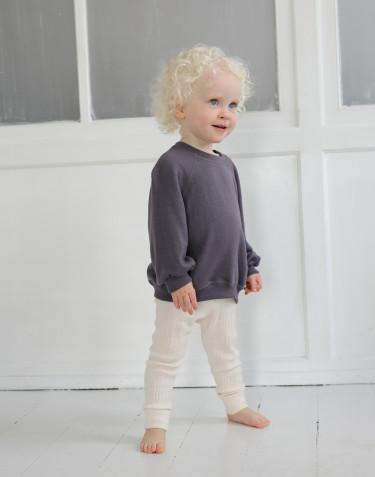 Babysweatshirt met wijde mouwen van wollen badstof