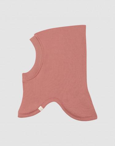 Bivakmuts van wollen terry donker roze