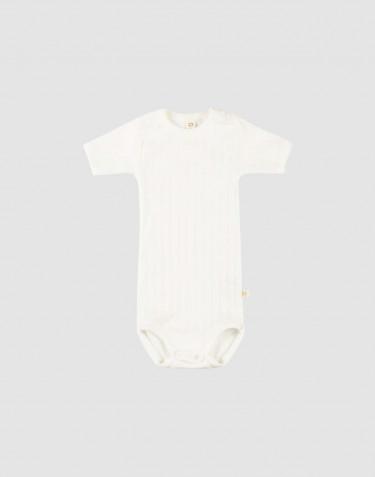 Baby romper met korte mouwen van natuurlijk katoen wit