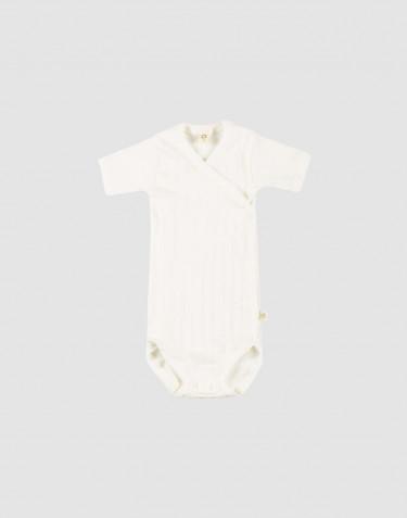 Baby wikkel romper van natuurlijk katoen wit
