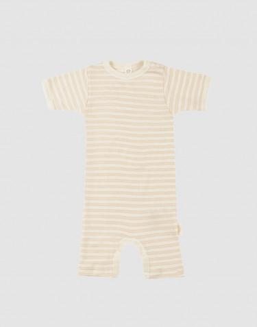 Baby boxpakje van biologische wol/zijde - beige/crème