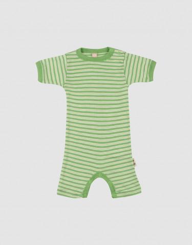 Merino wollen/zijden zomer romper voor baby's