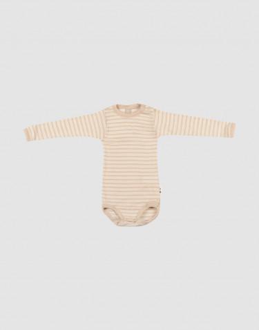 Merino wollen / zijden romper met lange mouwen voor baby's