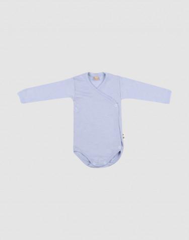 Merino wollen / zijden overslagromper voor baby's