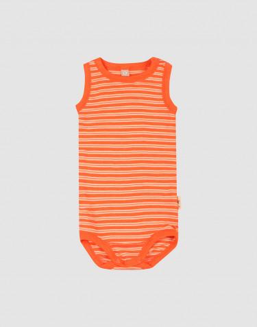 Merino wollen/zijden romper zonder mouwen voor baby's