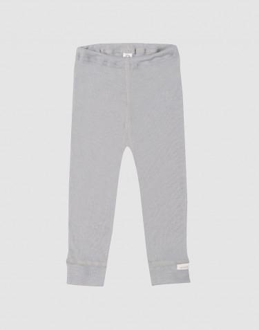Baby legging van een mix van biologische merino en zijde grijs