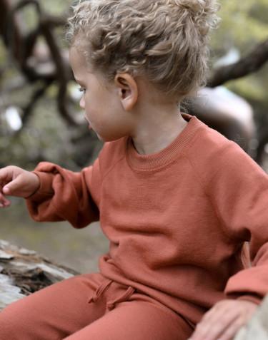 Kindersweatshirt met wijde mouwen van wollen badstof