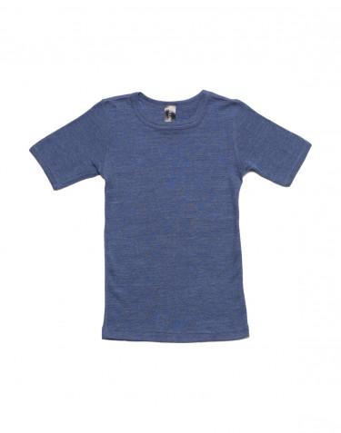 Kinder T-shirt gemaakt van wol en zijde