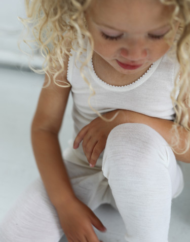 Natuurlijke merinowollen legging voor kinderen