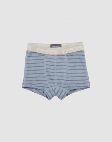 Jongens onderbroek - bio merinowol blauw gestreept