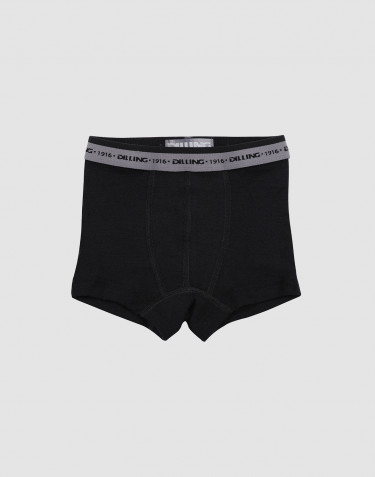 Jongens onderbroek - BIO merinowol zwart