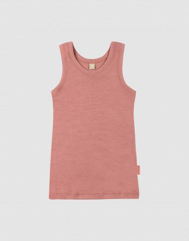 Wollen kinderhemd donker roze