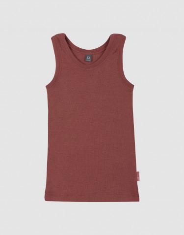 Wollen kinderhemd rouge