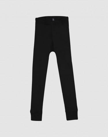 Kinder Leggings - BIO merino wol zwart