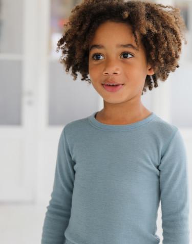 Merino wollen top met lange mouwen voor kinderen