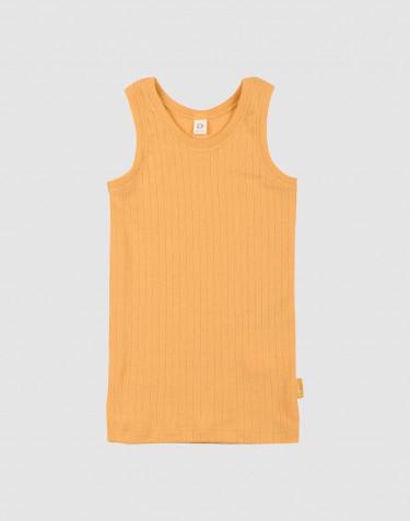 Kinderhemd breed geribd geel