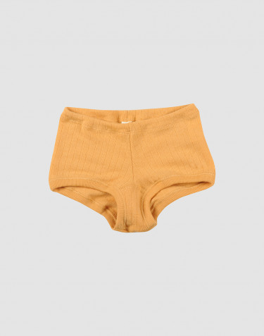 Meisjes hipster breed geribd geel