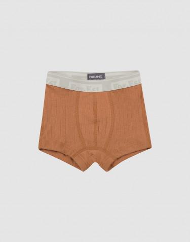 Jongens boxershorts breed geribd karamel